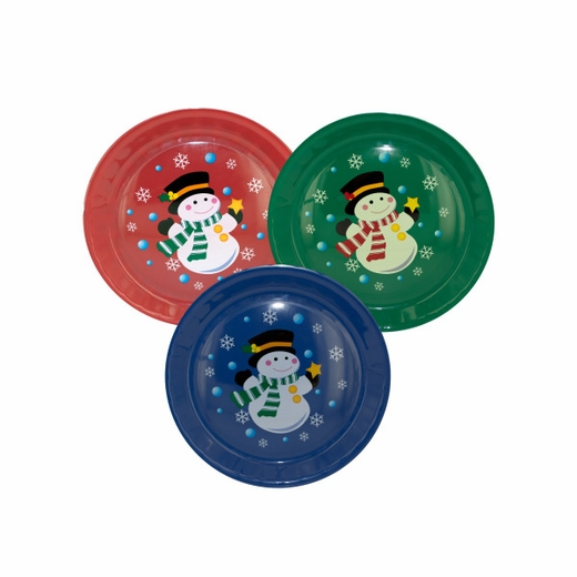 Round Christmas Serving Tray