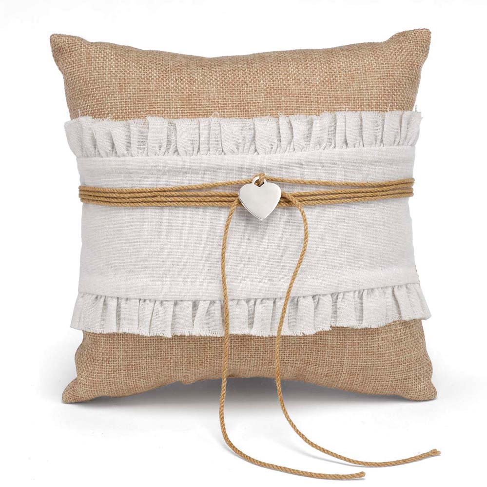Rustic Romance Ring Pillow