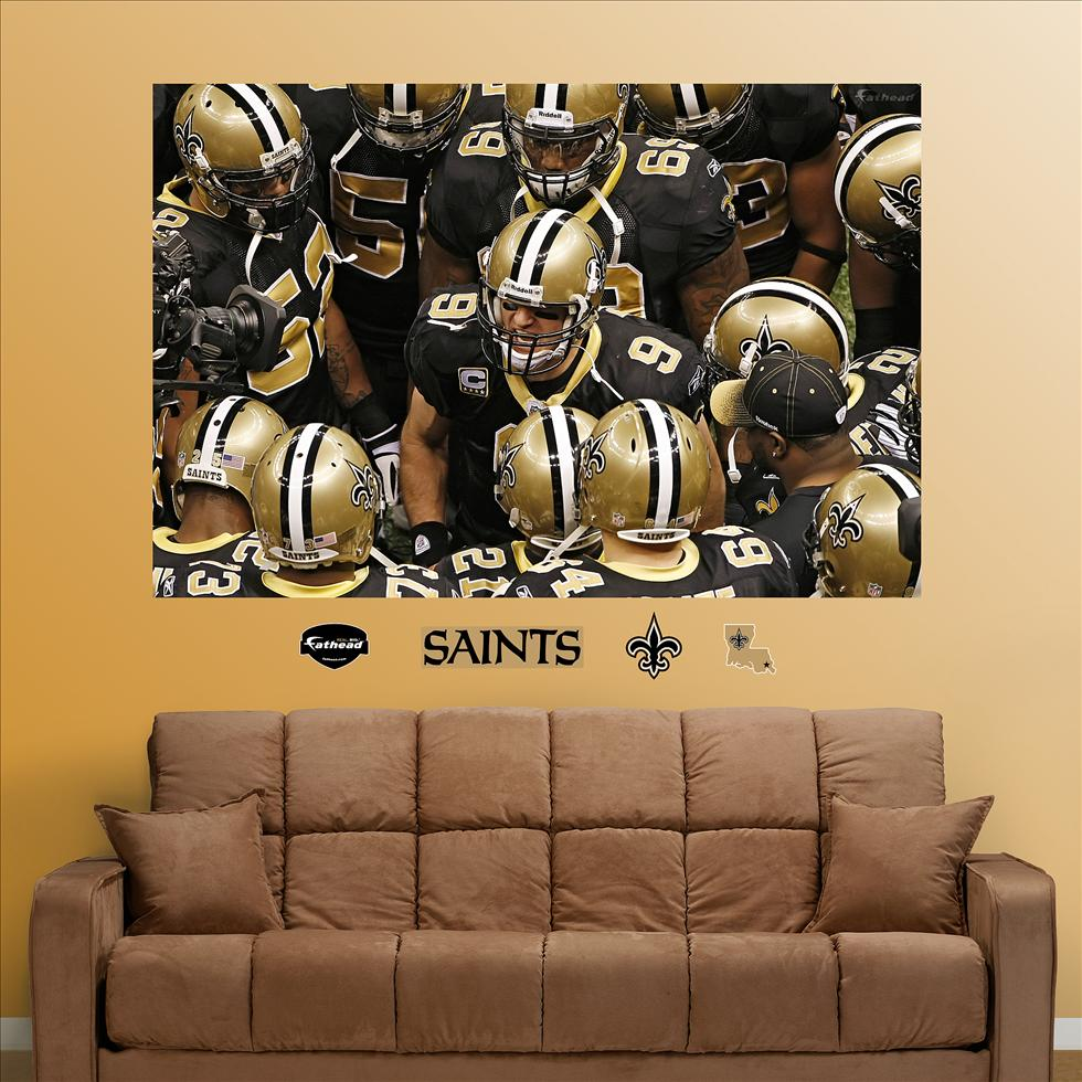 Saints Huddle Mural-Fathead