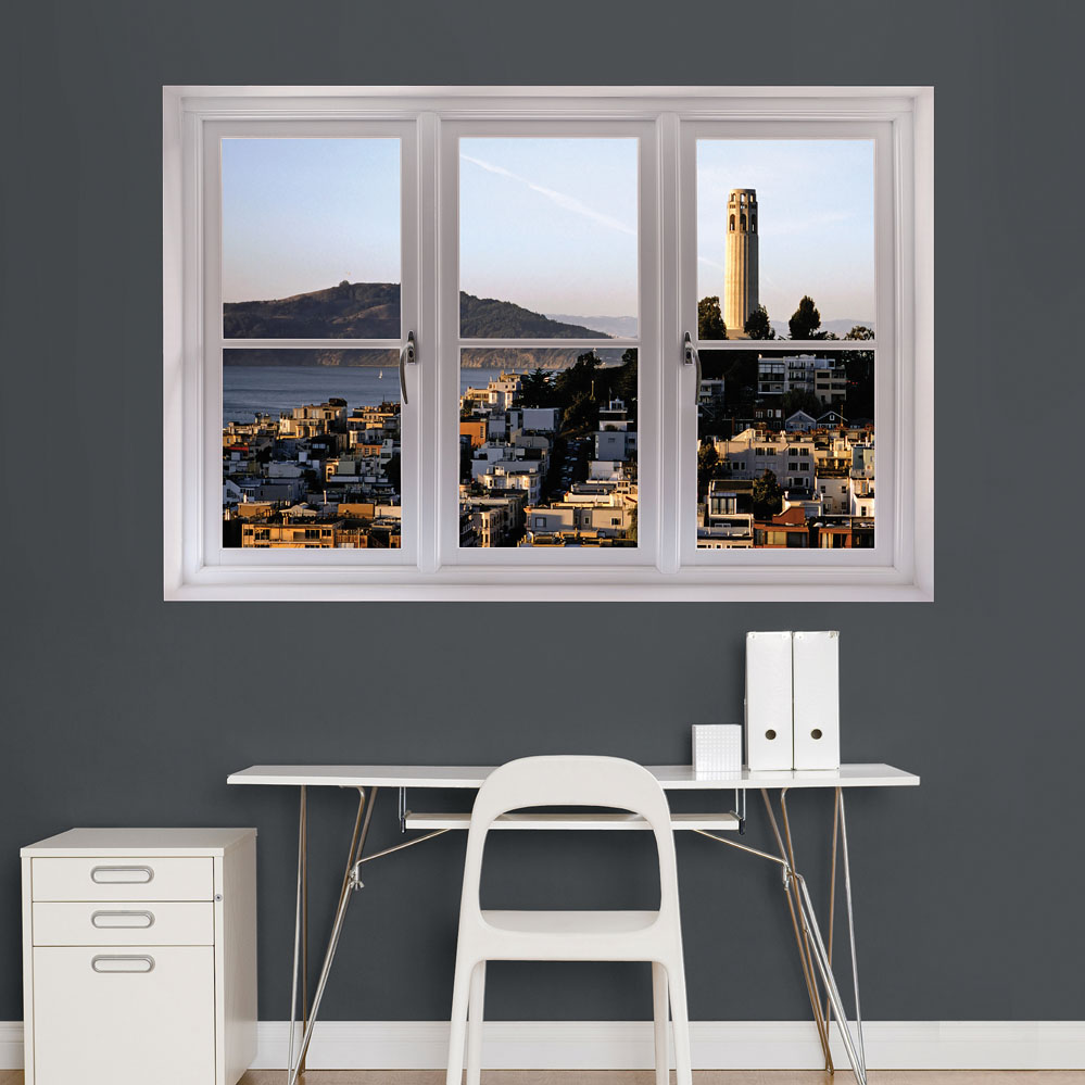 San Francisco Coit Tower Scenic Window Wall Decal