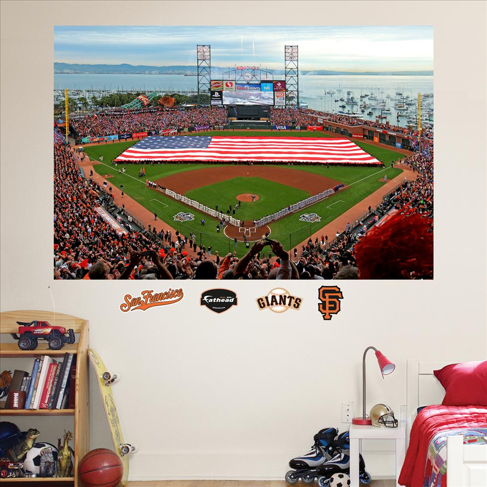 San Francisco Giants ATAndT Park Flag Mural-Fathead