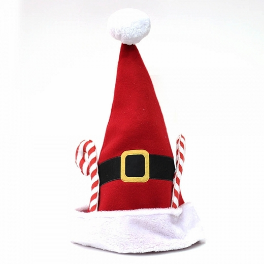 Santa Hat With Candy Canes