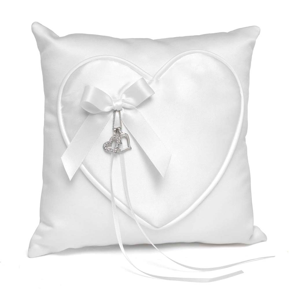 Satin Heart Pillow