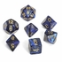 Scarab Royal Blue With Gold Polyhedral 7 Die Set