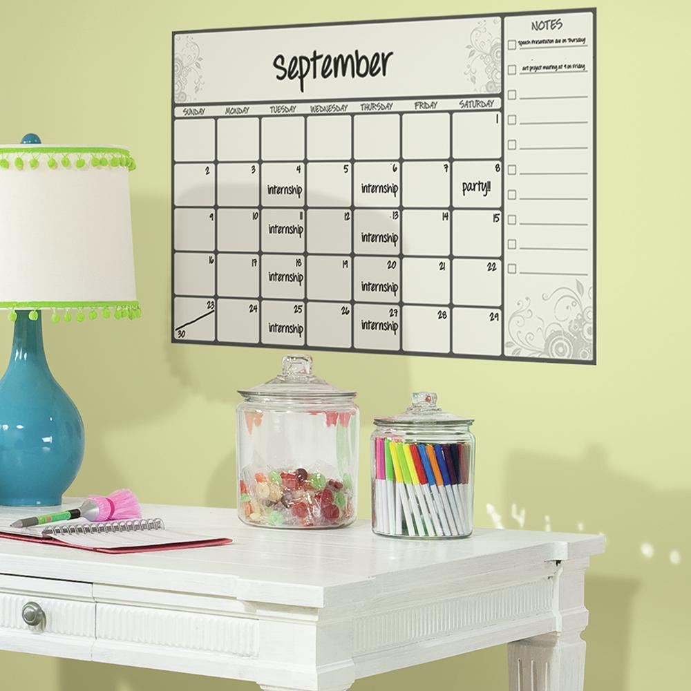 Scroll Dry Erase Calendar Decal