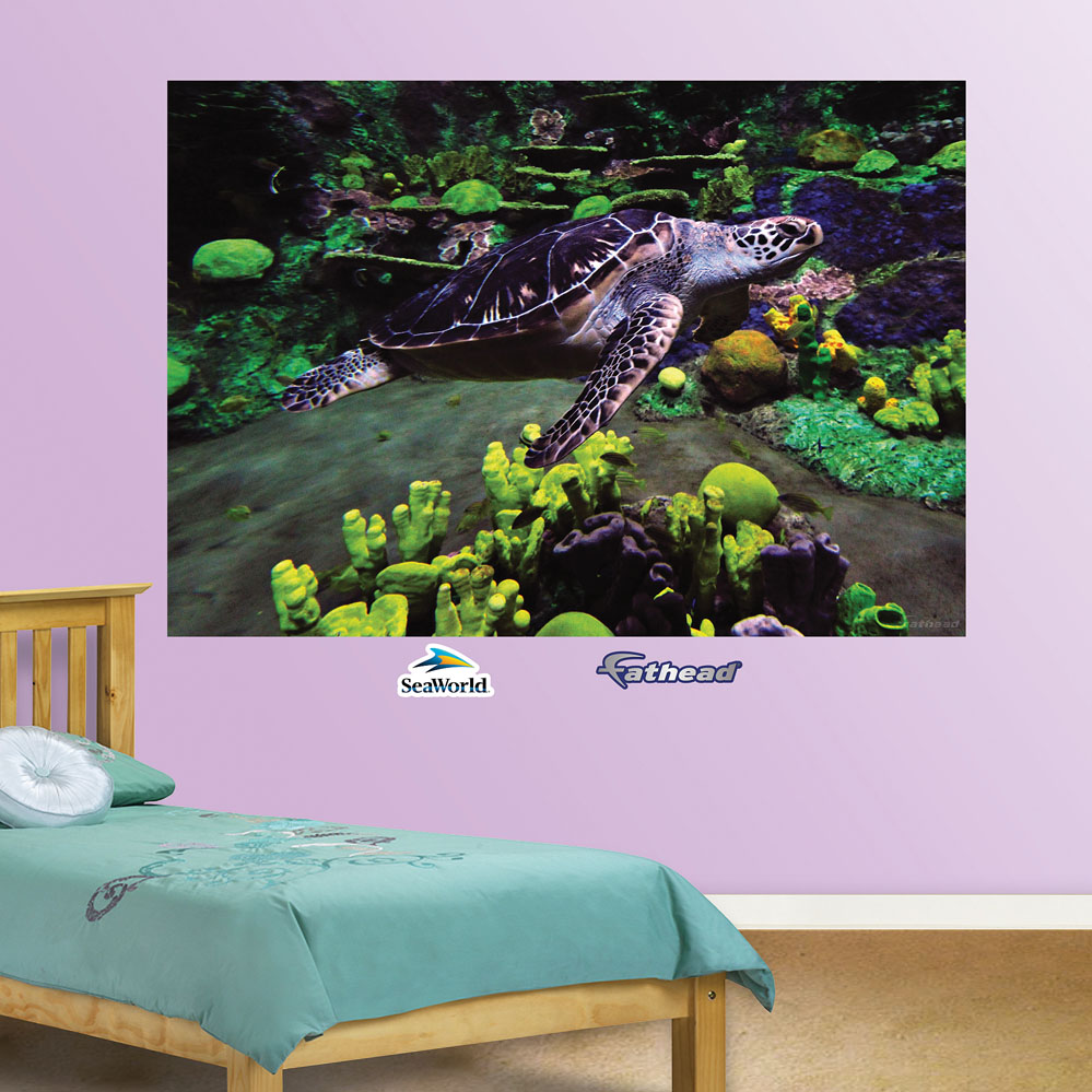 Sea Turtle Mural REALBIG Wall Decal