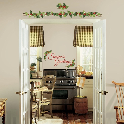 Seasons Greeting Ivy Giant Decal