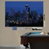 Seattle Night Skyline Mural REALBIG Wall Decal