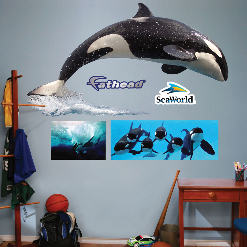 SeaWorld Orca And Crew REALBIG Wall Decal