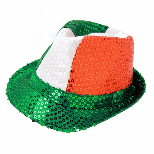 Sequined Irish Fedora