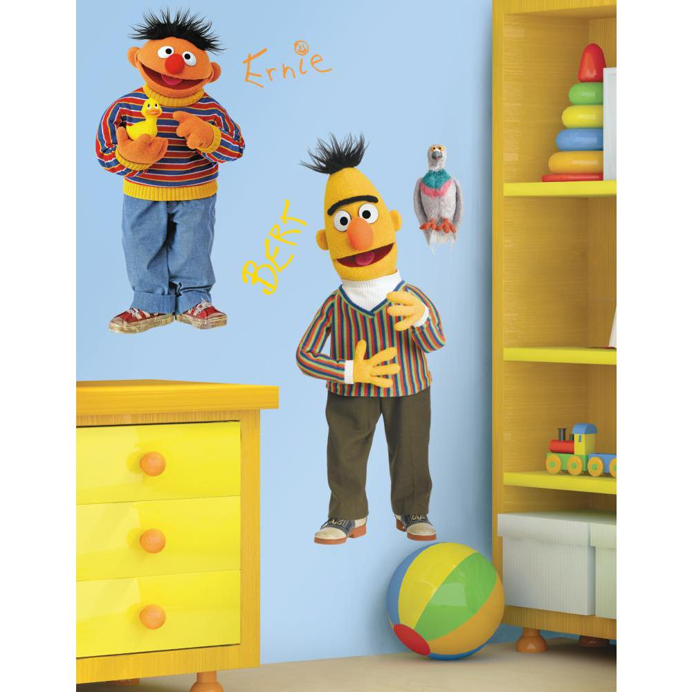 Sesame Street Burt And Ernie Giant Decal