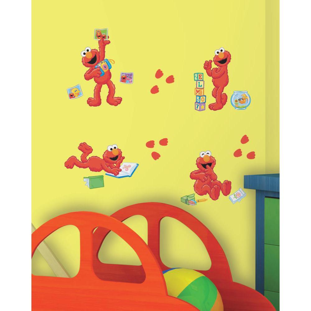 Sesame Street-Elmo-Centric Peel And Stick Decal