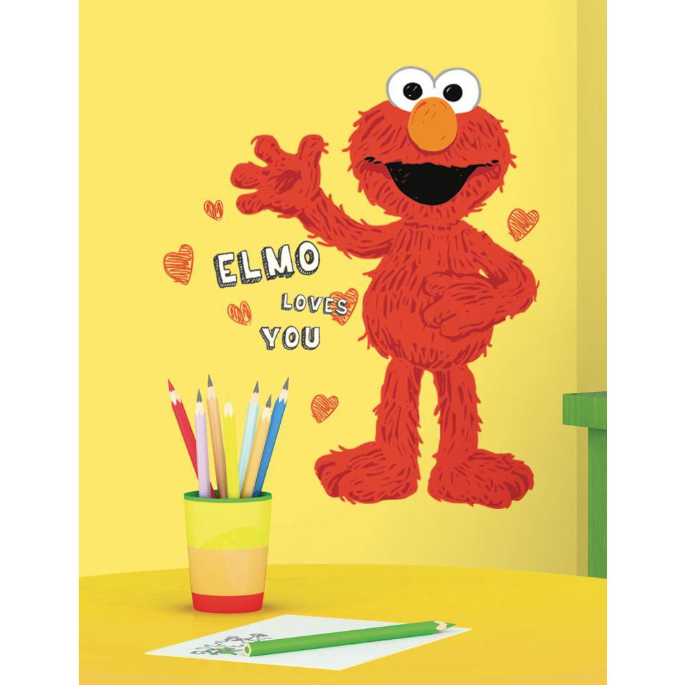 Sesame Street-Elmo Loves You Giant Decal
