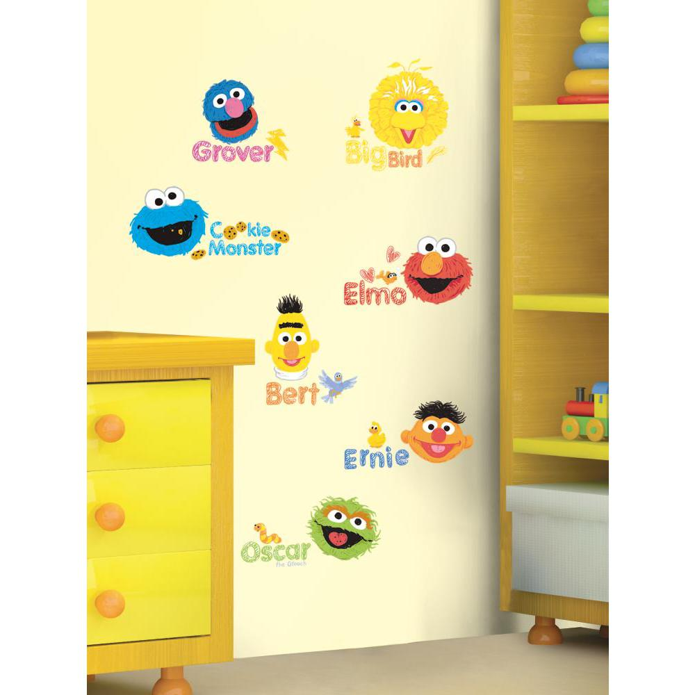 Sesame Street-Scribble Peel And Stick Decal