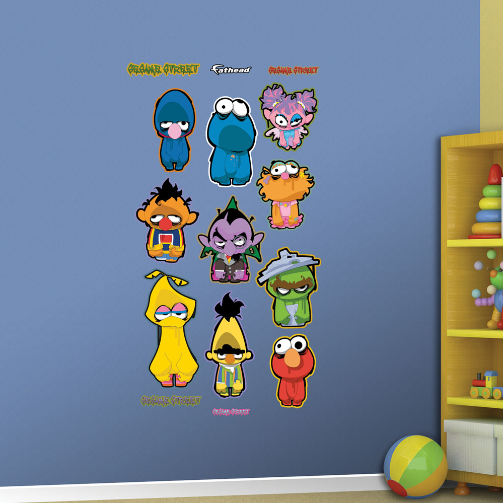 sesame street zombie collection realbig wall decal. Black Bedroom Furniture Sets. Home Design Ideas