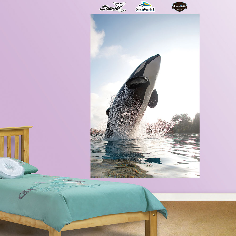 Shamu Jump Mural REALBIG Wall Decal