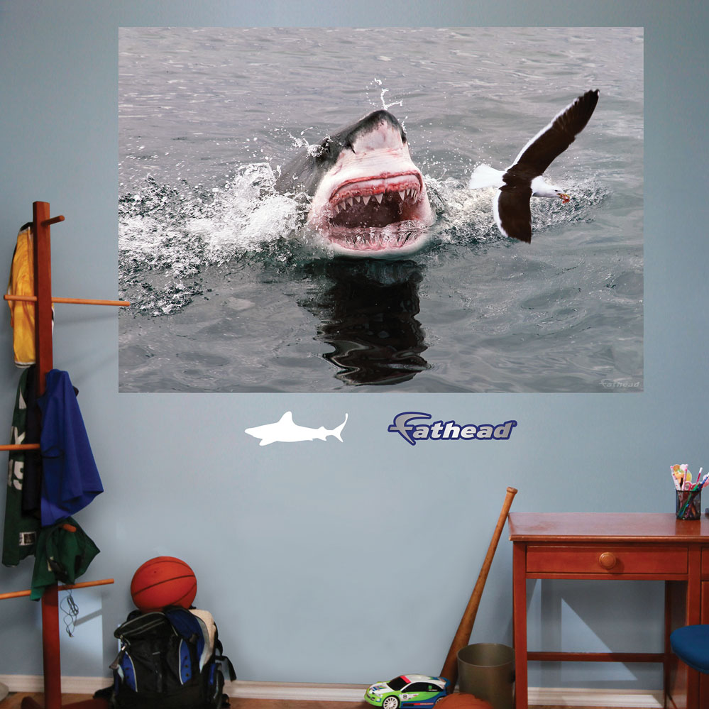 Shark Attack Mural REALBIG Wall Decal