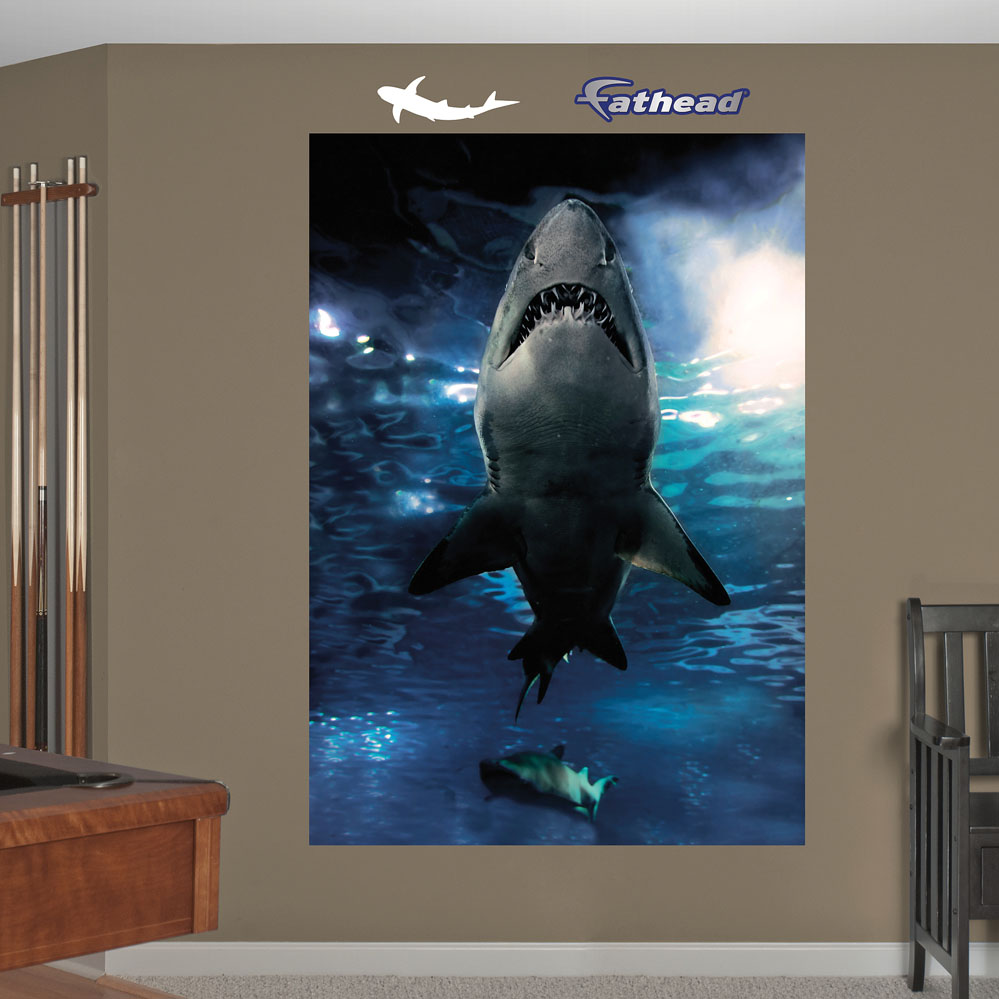 Shark Underwater Mural REALBIG Wall Decal