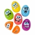 """Silly Face Plastic Easter Eggs - 2 1/2"""""""