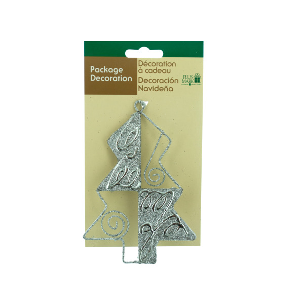 Silver Christmas Tree Gift Ornament