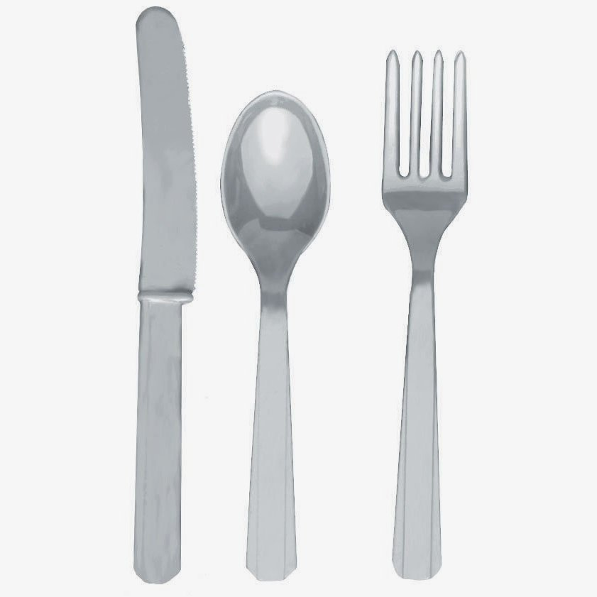 Silver fork knife and spoon set - Knife and fork sets ...