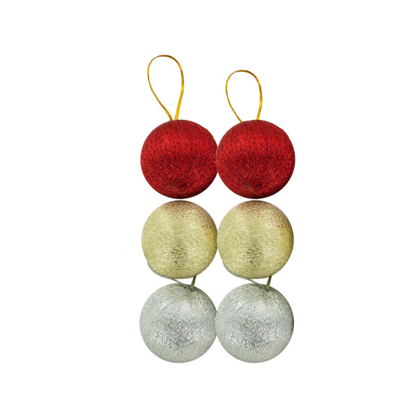 Silver/Gold/Red Christmas Ball Ornaments