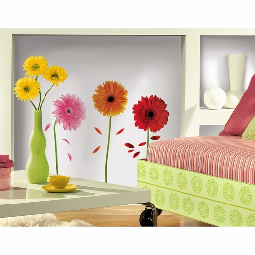 Small Gerber Daisies Peel And Stick Decal