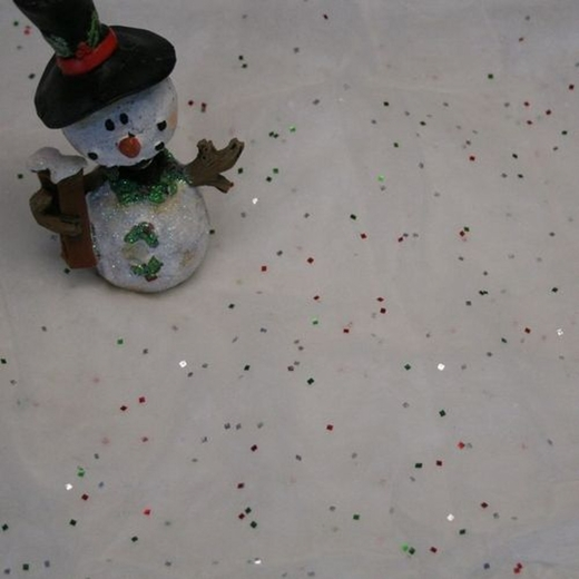 Snow Drape Cloth With Glitter