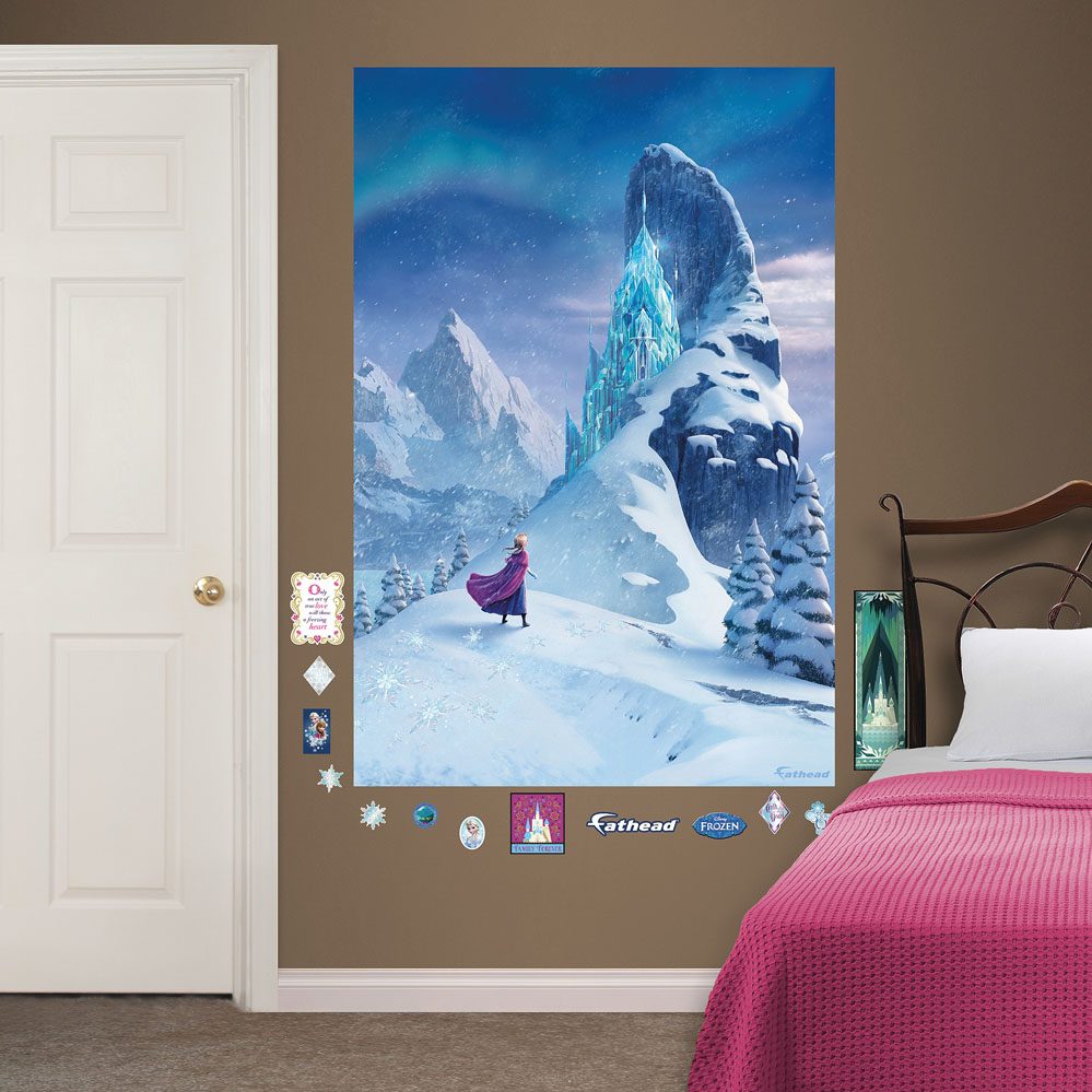 Snow Queen Elsa�s Castle Mural REALBIG Wall Decal