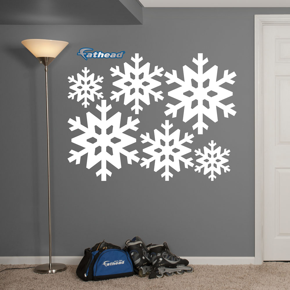snowflake collection realbig wall decal. Black Bedroom Furniture Sets. Home Design Ideas