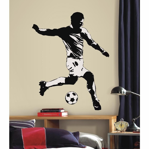 Soccer Player Peel And Stick Giant Decal