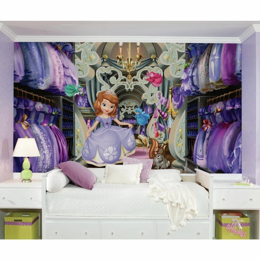 Sofias Closet Mural 6 x 105-Ultra-strippable