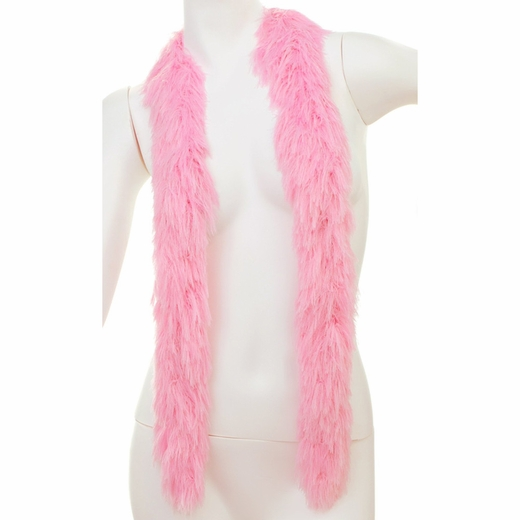 Soft Pink Faux Fur Boa (6', 190 grams)