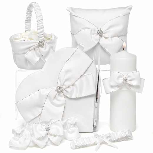 Sparkling Sash Collection With Heart Guest Book