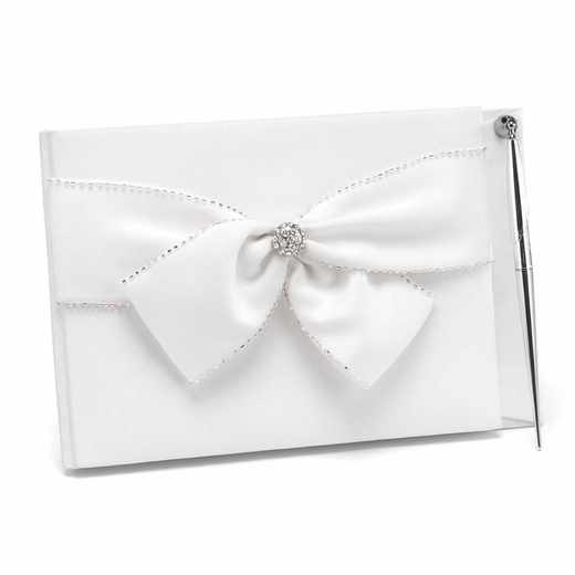 Sparkling Sash Guest Book With Pen