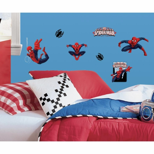 Spiderman-Ultimate Spiderman Peel And Stick Decal