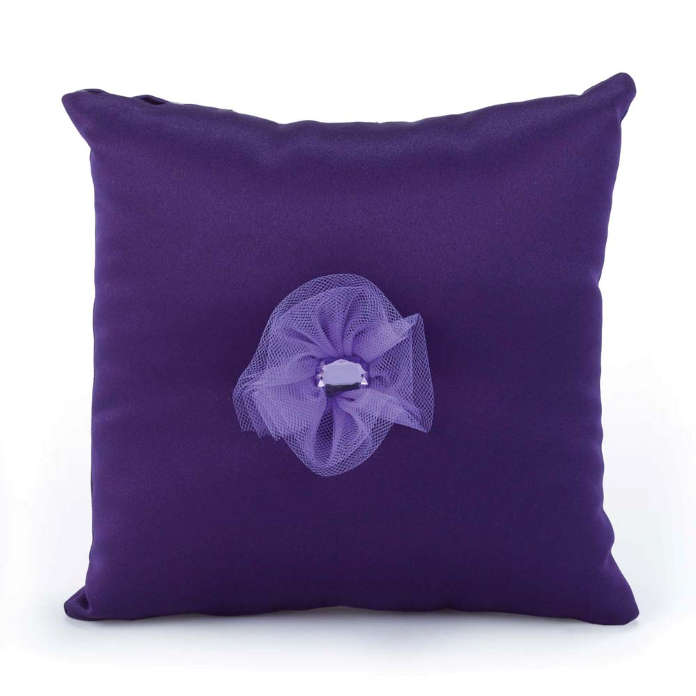 Splash of Color Purple Pillow