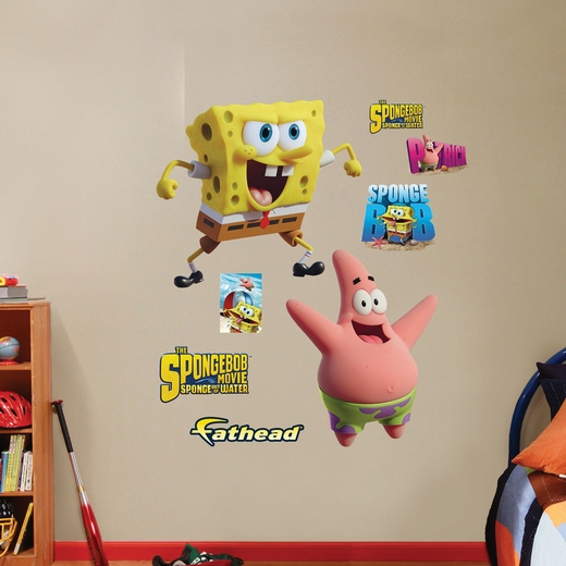 SpongeBob And Patrick Sponge Out of Water Wall Decal