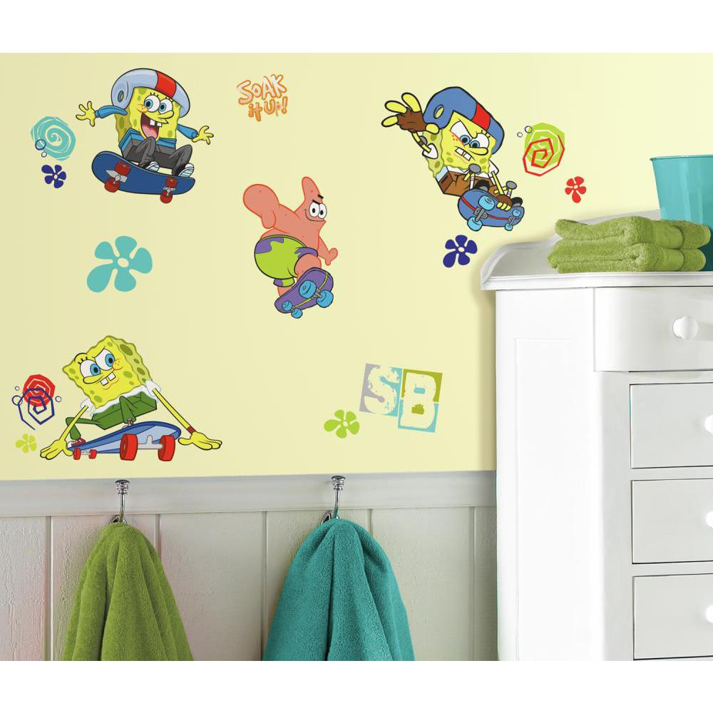 Spongebob Skaters Peel And Stick Decal