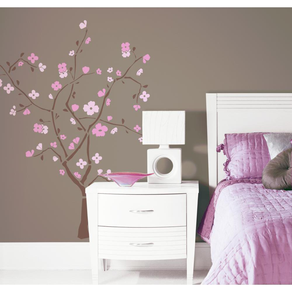 spring blossom peel and stick giant wall decal. Black Bedroom Furniture Sets. Home Design Ideas