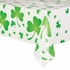 St. Pat's Shamrocks Plastic Table Cover - Rectangle