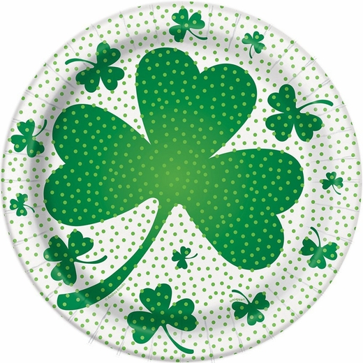 """St. Patrick's Day Paper Plates - 8 5/8"""""""