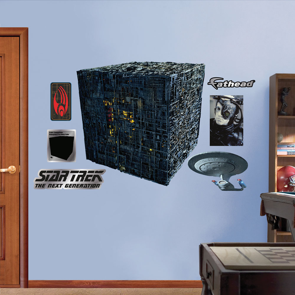 Star Trek Borg Cube REALBIG Wall Decal