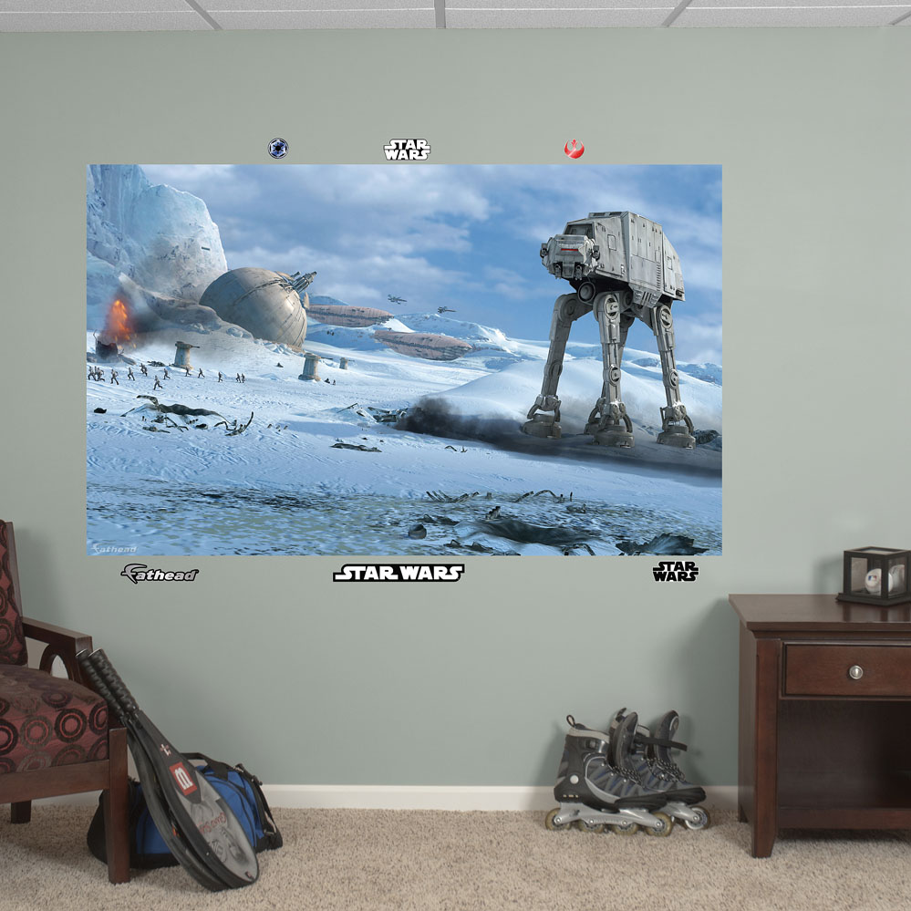 Star Wars AT-AT Battle Mural REALBIG Wall Decal