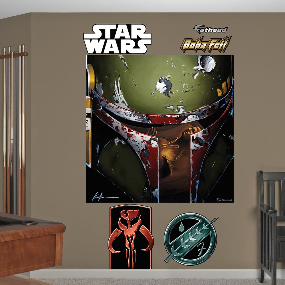 Star Wars Boba Illustration Mural Wall Decal
