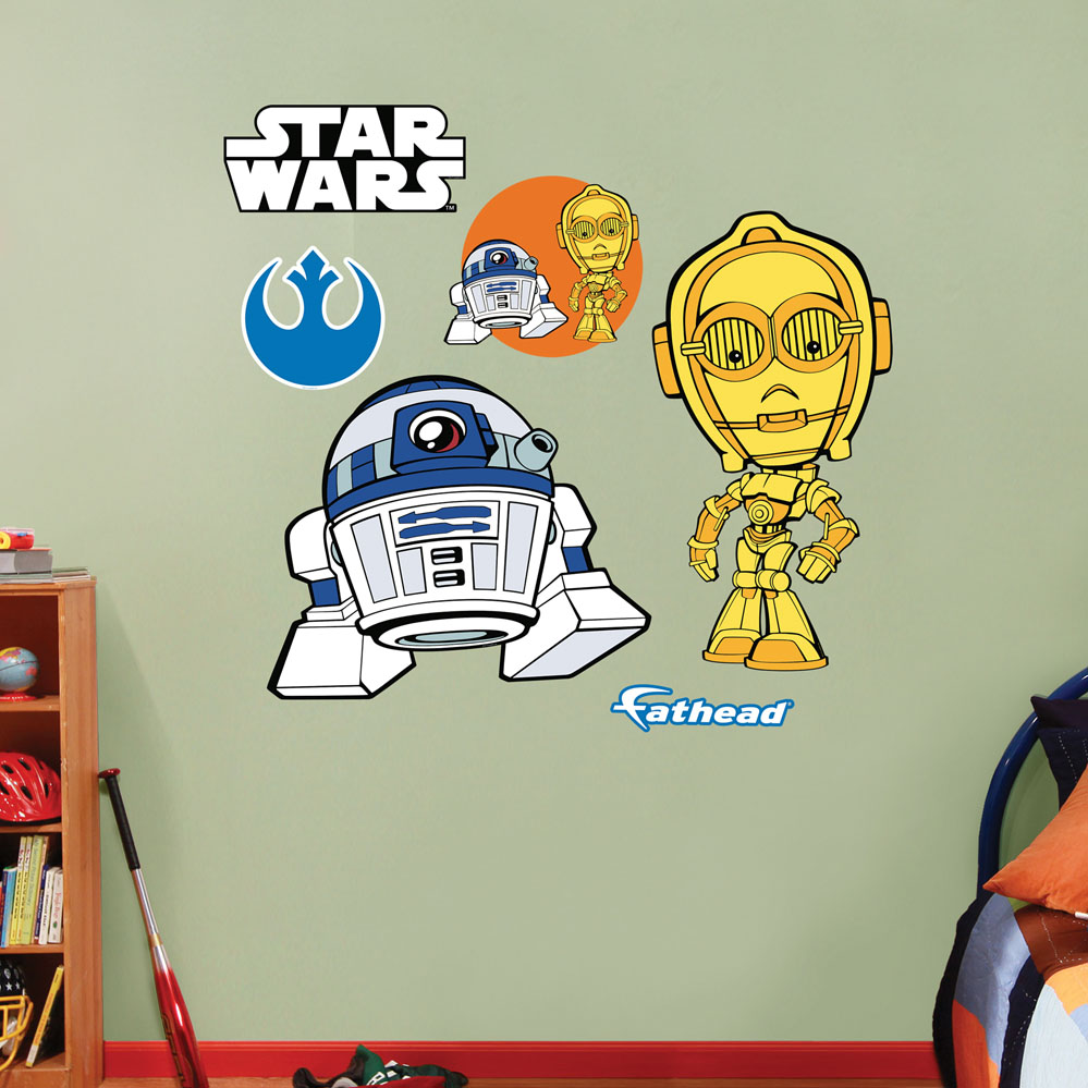 Star Wars C-3PO / R2-D2 Pop Duo REALBIG Wall Decal