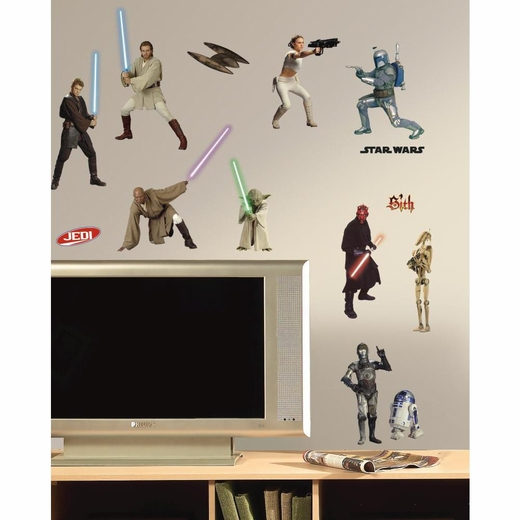 Star Wars Episodes 1-3 Peel And Stick Decal