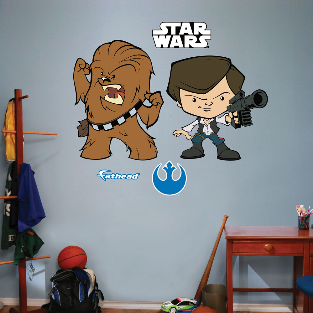 Star Wars Han Solo / Chewbacca Pop Duo Wall Decal