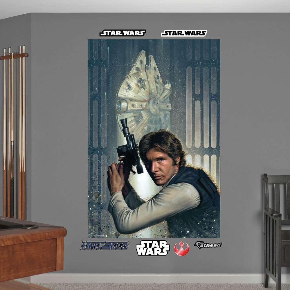 Star Wars Han Solo Closeup Mural Wall Decal
