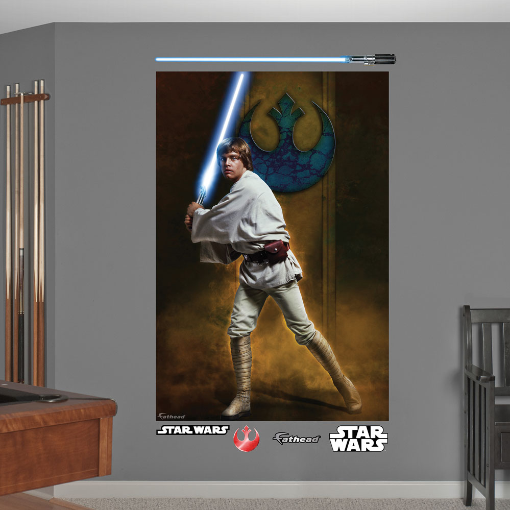 Star Wars Luke Skywalker Mural REALBIG Wall Decal
